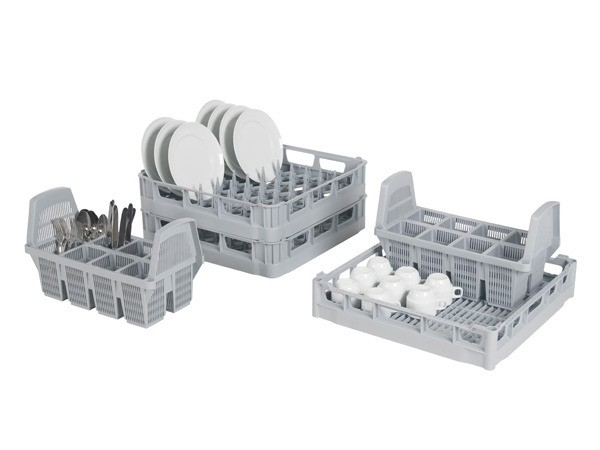 Vaatwaskorven starterskit voor 500x500mm vaatwasmachines - grijs