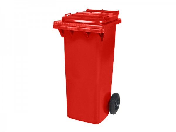 2-wiel afvalcontainer - 80 liter - rood