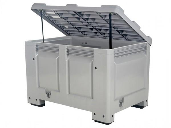 Strooizoutbak - kunststof paleltbox - 1200 x 800 mm - met deksel - op 4 poten