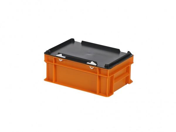 Stapelbak met deksel - 300x200xH133mm - oranje