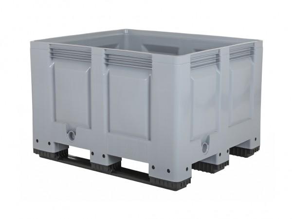 Kunststof palletbox - 1200x800xH790mm - 3 sledes - grijs