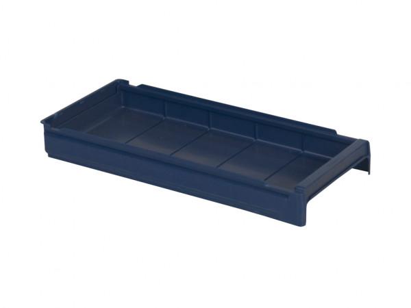Kunststof magazijnbak - 600x230xH100mm - blauw