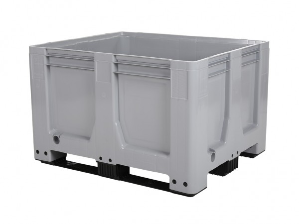 Kunststof palletbox AIR - 1200x1000xH760mm - 3 sledes - grijs
