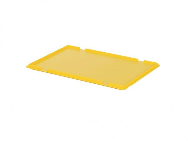 Kunststof scharnierdeksel 600x400mm - geel