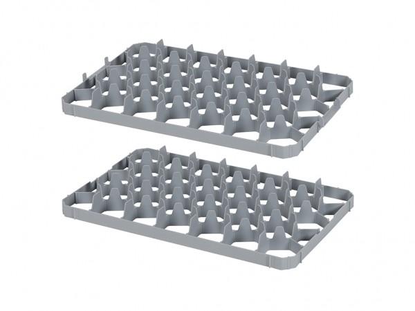 Set vakverdelingen 33-vaks voor stapelkrat - vakafmeting 67 x 67 mm