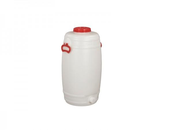Kunststof vat met uitloop - 50 liter - naturelwit