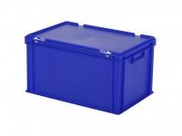 Stapelbak met deksel - 600x400xH335mm - blauw 30.632.DB.3