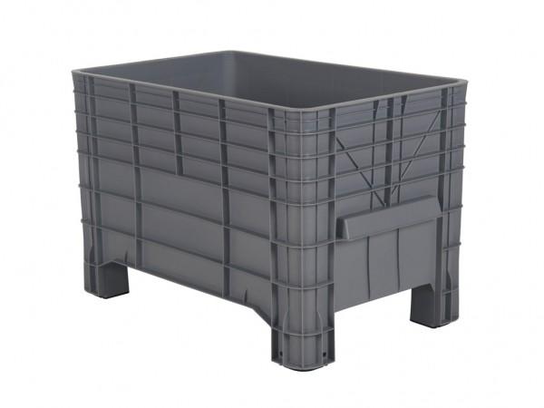 Kunststof palletbox - 1040x640xH668mm - op vier poten - grijs