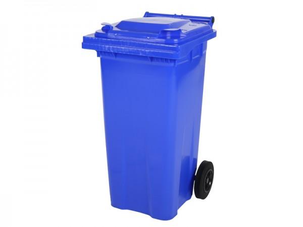 2-wiel afvalcontainer - 120 liter - blauw