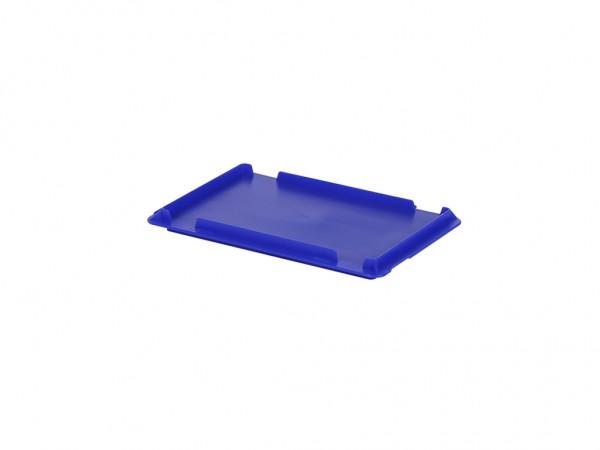 Kunststof scharnierdeksel 300x200mm - blauw