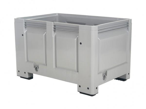 Kunststof palletbox - 1200x800xH760mm - op 4 poten - grijs