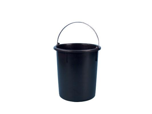 Emmer 30 liter - heavy duty - zwart