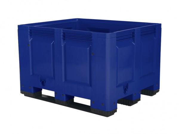 Kunststof palletbox - 1200x1000xH790mm - 3 sledes - blauw