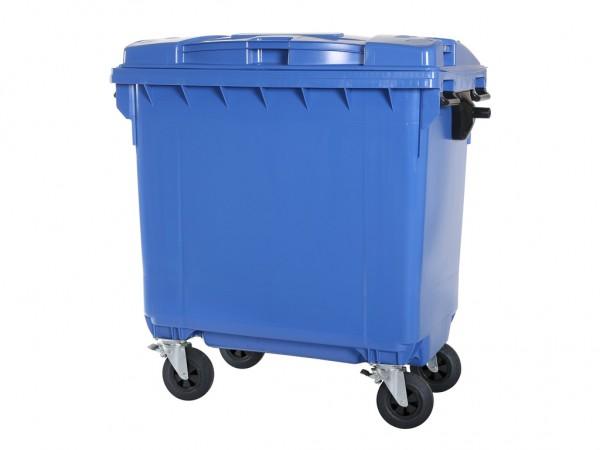 4-wiel afvalcontainer - 770 liter - blauw