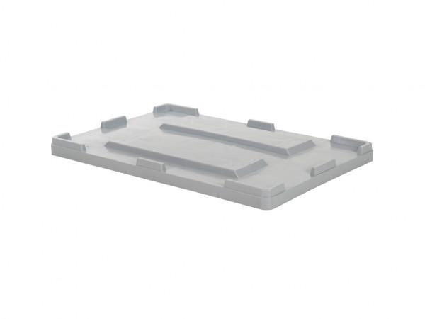 Oplegdeksel 1200x800mm voor palletboxen - grijs