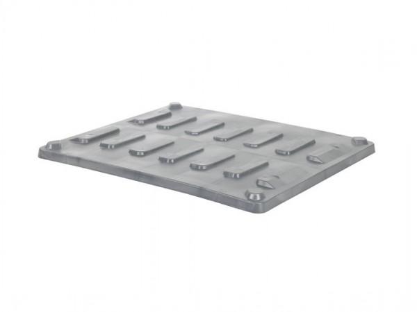 Oplegdeksel 1200x1000mm voor CB3 palletboxen - grijs