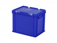 Stapelbak met deksel - 400x300xH335mm - blauw 30.432.DB.3